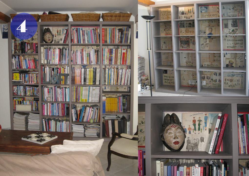 bibliothèque sur mesure pour caser des livres