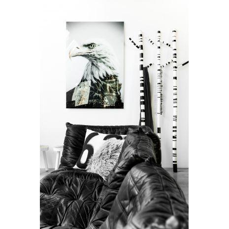hk living porte manteau rayures noires et blanches l o le pirate dkomag. Black Bedroom Furniture Sets. Home Design Ideas