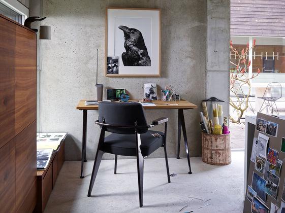 G star Vitra Fauteuil Direction, Compas Direction, Wire Chair meubles jean prouvé