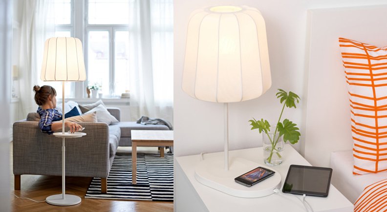 ikea-varv-floor-lamp-with-wireless-charging- Objets connectés