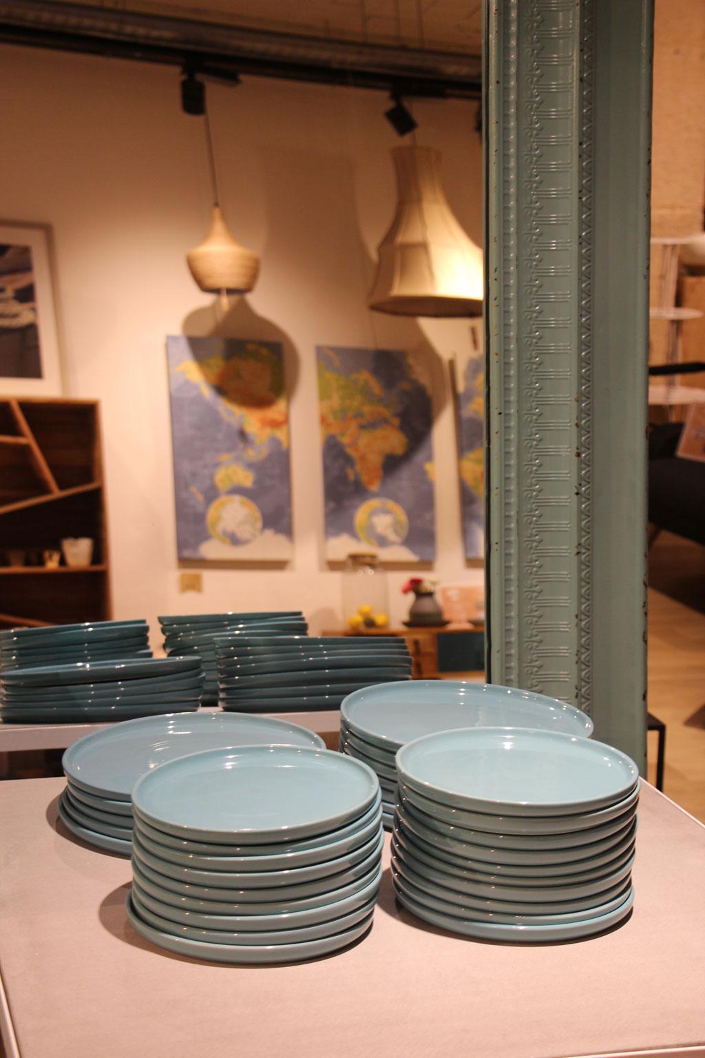 Fleux assiettes bleues stephanie caumont