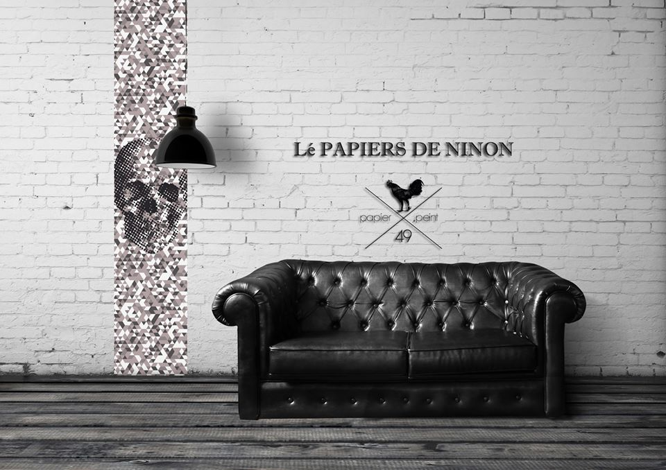 l papiers de ninon du papier peint ludique et d cal dkomag. Black Bedroom Furniture Sets. Home Design Ideas