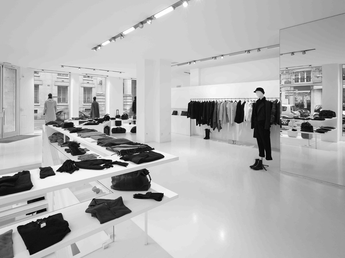 boutique y 39 s yohji yamamoto paris 3 dkomag. Black Bedroom Furniture Sets. Home Design Ideas