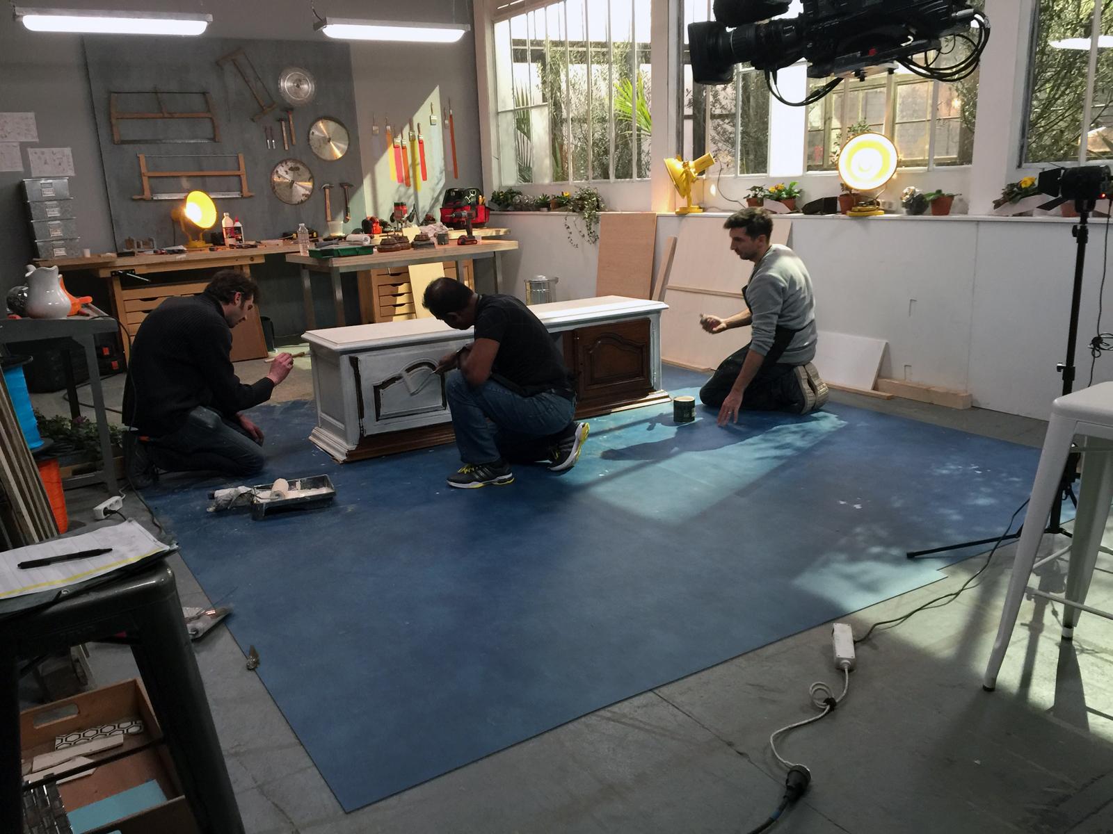 l'Atelier deco coulisses du tournage stéphanie caumont