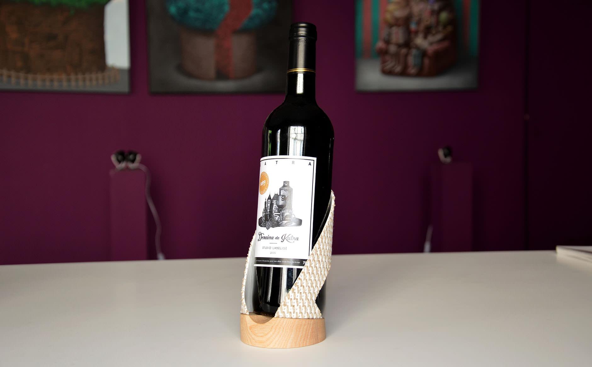 studio Katra support bouteille de vin