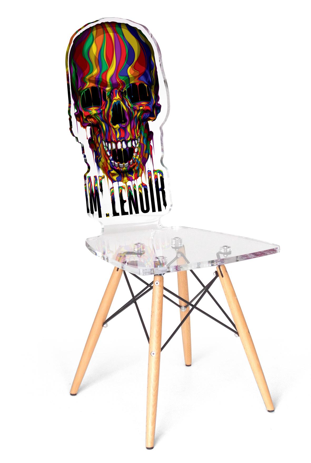 Djibrill cisse chaise Skull