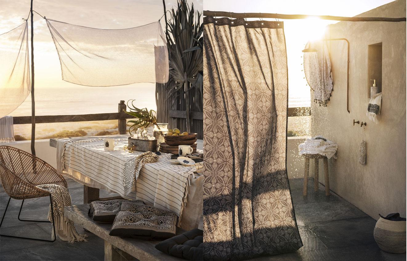 collection boh me pour l 39 t 2017 chez h m home dkomag. Black Bedroom Furniture Sets. Home Design Ideas