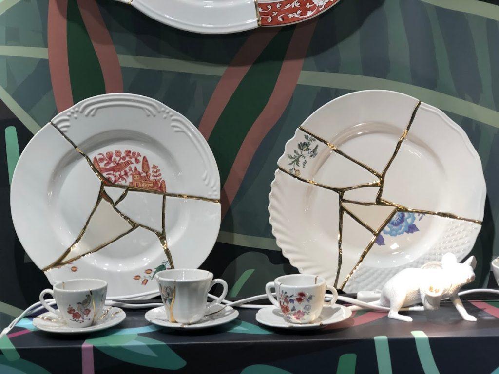 seletti Collection d'assiettes Kintsugi